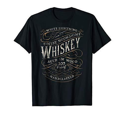 White Lightning Whiskey Finest Moonshine Vintage T-Shirt