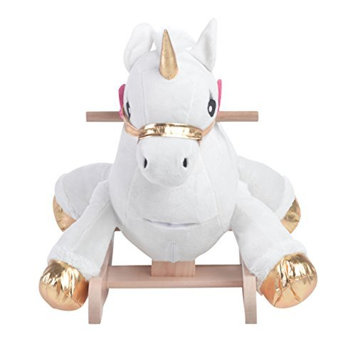 Critters Angel the Unicorn Rocking Horse, Kids Rocker by Rockabye
