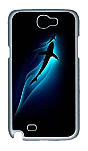 Samsung Galaxy Note 2 Case and Cover- Shark Water PC Case for Samsung Galaxy Note 2 / Note II / N7100 White