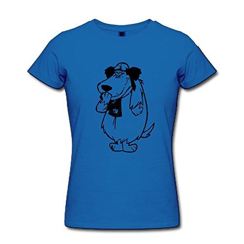 Women's Funny Muttley Short Sleeve Shirt, blue