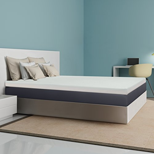 Best Price Mattress 4-Inch Memory Foam Mattress Topper, Queen
