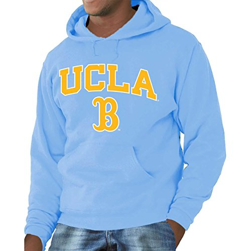 Campus Colors UCLA Bruins Arch & Logo Gameday Hooded Sweatshirt - Light Blue, Large (Ucla Drawstring Bruins Ncaa)