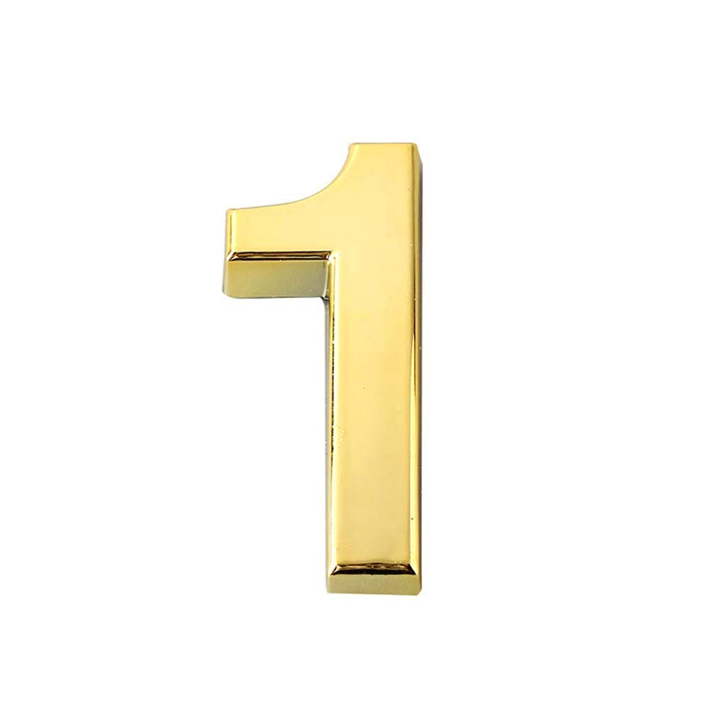 Self-Stick Solid Metal Mailbox Numbers 3D Bronze House Number Sticker for Adress Apartment Hotel Door Case (2) HBW