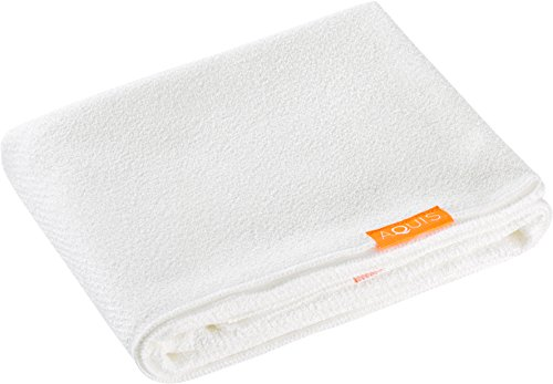 Aquis Long Hair Towel Lisse Luxe 19'' X 52'' - White by AQUIS