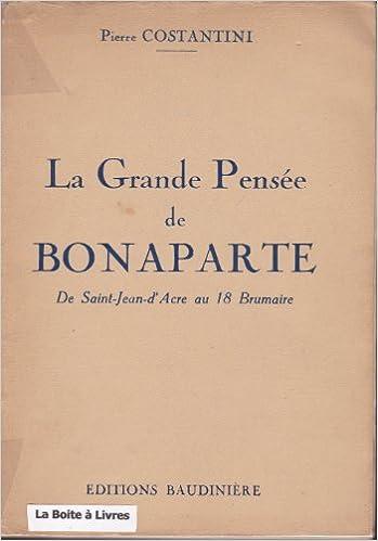 Livres gratuits La grande pensée de Bonaparte. epub, pdf