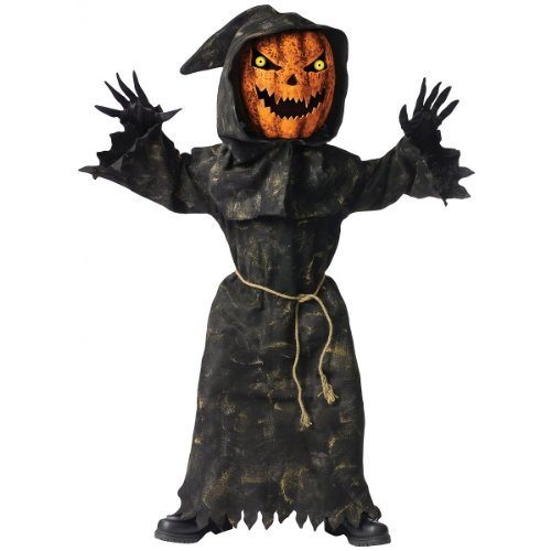 [Bobble Head Pumpkin Costume - Large] (Bobble Head Halloween Costume)