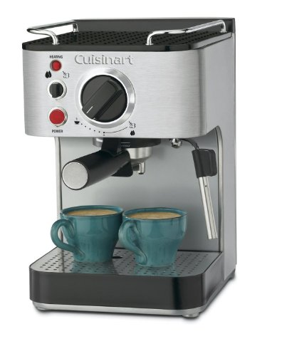 Cuisinart Stainless Steel 1000-Watt 15-Bar Espresso Maker with Stainless Steam Nozzle Built-In Cup Warming Tray