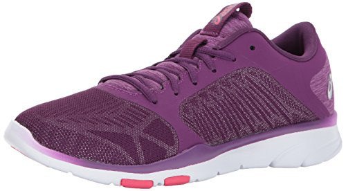 ASICS Women's Gel-Fit Tempo 3 Cross Trainer, Prune/Silver/Rouge Red, 9.5 Medium US