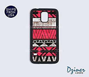 Galaxy Note 2 Case - Pink Aztec Wood Print