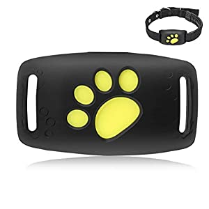 Pet Mini GPS Tracker Dogs, Cats Activity Tracker Positioning Anti-Lost Device Real Time Locator Finder Waterproof Adjustable Collar Free APP Black 4