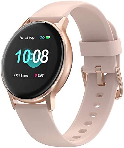 "UMIDIGI Smart Watch, Uwatch 2S Fitness Tracker with Personalized Watch Faces, Activity Tracker with 1.3"" Touch Screen, 5ATM Waterproof Smartwatch with Heart Rate Monitor, for Women and Men"