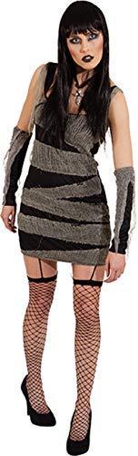 Ladies Egyptian Mummy Bandage Dress Gloves Halloween Zombie Horror Fancy Dress Costume Outfit (UK 10-12 (EU -