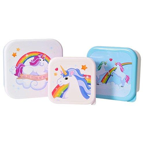 Einhorn Brotdosen im 3er Set - Unicorn Vesperdose Brotbox Magie Brotbox alltoshop