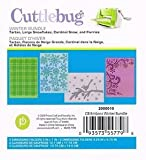 Cuttlebug Winter Bundle Embossing Folder Set Tartan Large Snowflakes Cardinal Snow and Flurries