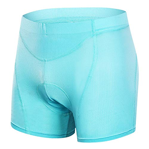 MUCUBAL Women's Cycling Underwear Shorts 3D Padded MTB Bike Bicycle Undershorts Blue