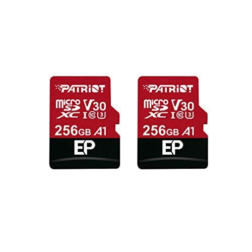 کارت میکرو SD Patriot 256GB A1 / V30 برای تلفن ها و تبلت های اندرویدی ، ضبط ویدیو 4K - 2 واحد خرده فروشی