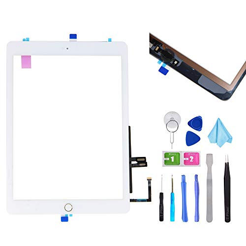 T Phael White Digitizer Repair Kit for iPad 9.7
