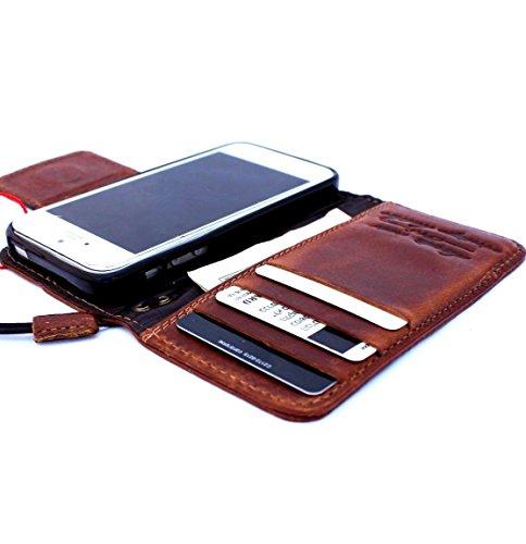 Original Vintage geölt Leder Handmade Safe für Apple iPhone SE Wallet speziellen Luxus Magnetisches Cover Retro ID 5C 5S