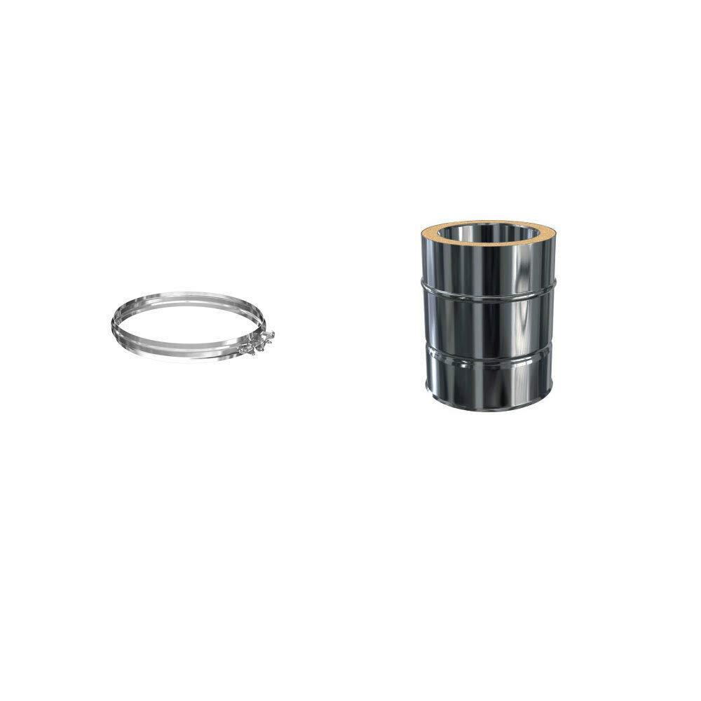 Klemmband Edelstahlschornstein L/ängenelement 500 mm DW 150 doppelwandig inkl