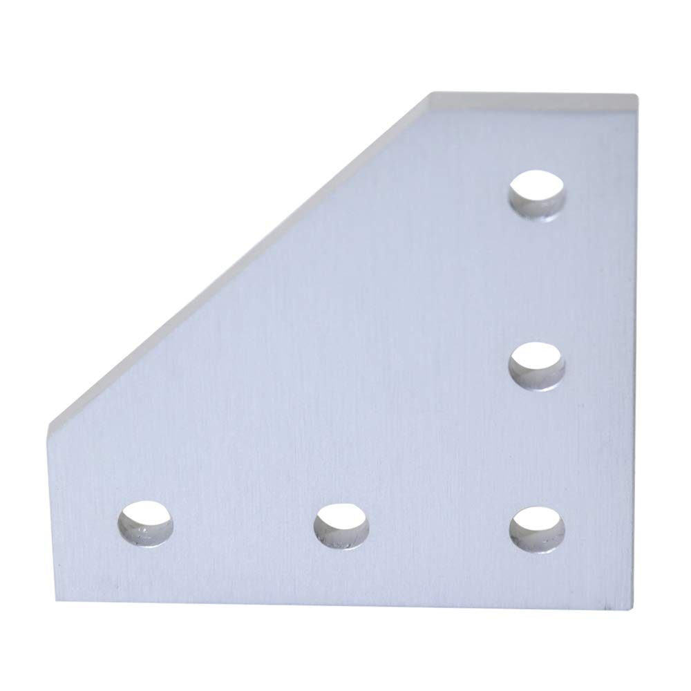 Boeray 2pcs 5-Hole 90 Degree L Shape Outside Joining Plate for 3030 Series Aluminum Profile, Joint Bracket Plate