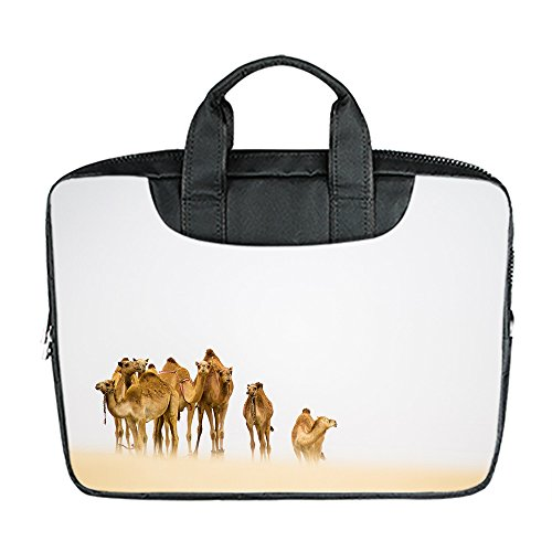 DongMen wasserdichte Gewebe Schulter Messenger Laptop Tasche f¨¹r 11 Zoll Macbook Air / Notebbook Custom Design D 1GMDotj