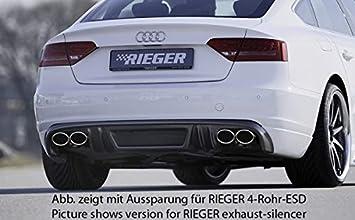 Rieger Trasero Enfoque Aspecto de Carbono para Audi A5 (B8/B81): 06.07 - 07.11 (hasta Facelift): Amazon.es: Coche y moto
