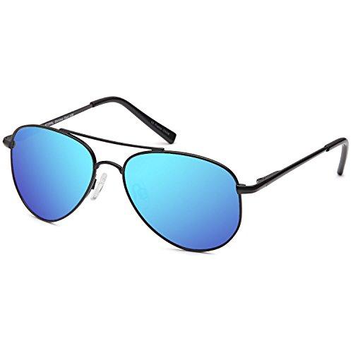 JETPAL Kids Polarized Classic Metal Aviator Style Sunglasses with Spring - Childrens Sunglasses Aviator
