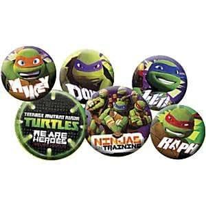 Insignias de las tortugas ninja (paquete de 6): Amazon.es ...