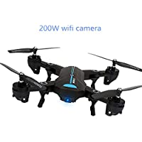 A6 2.4Ghz 2.0MP Wide Angle Selfie Drones Foldable RC Quadcopter Wifi FPV RC Drone Altitude Hold 3D Flips Roll RTF(200W)