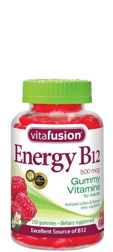 Vitafusion énergie Vitamines B12, Gummy Très framboises, 250 Count