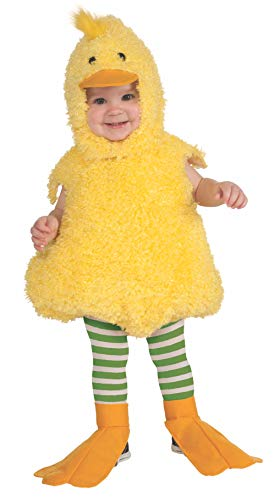 Rubie's Cuddly Jungle Quackie Duck Romper Costume, Yellow, 12-18 Months