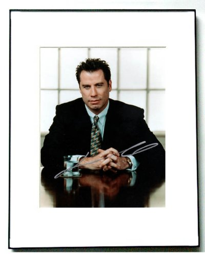 John Travolta Autographed Elegant Signed Framed Photo PSA/DNA AF - Elegant Signed