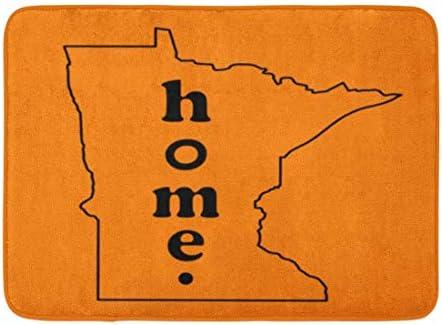 Vintage Michigan State America Flag Non-Slip Outside//Inside Floor Mat for Health and Wellness Kitchen Hallway Bath Office Bathroom Felpudo 23.6x 15.7