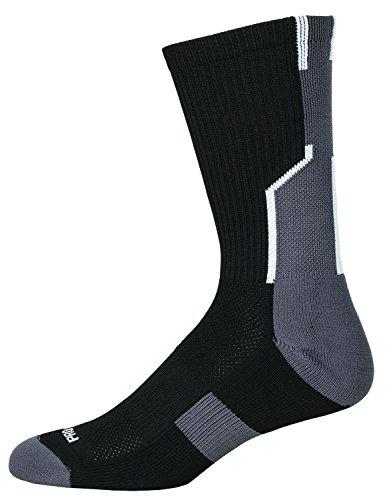 Pro Feet What's Your#? Socks, Black/Graphite Grey, Medium