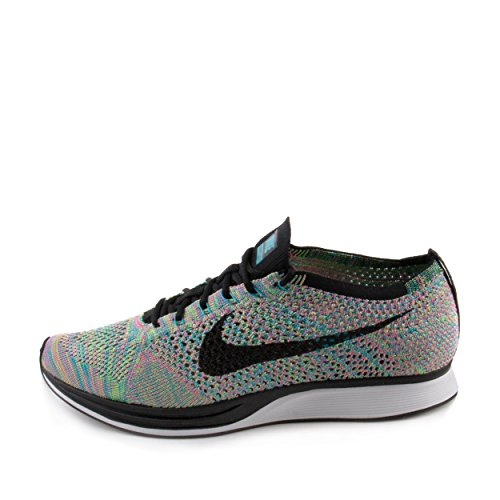 Nike Unisex Flyknit Racer Green Strike/Black Blue Lagoon Running Shoe 10 Men US / 11.5 Women US by NIKE (Image #1)