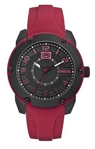 Marc Ecko E12527G1 - Reloj de pulsera hombre, silicona, color rojo: Amazon.es: Relojes