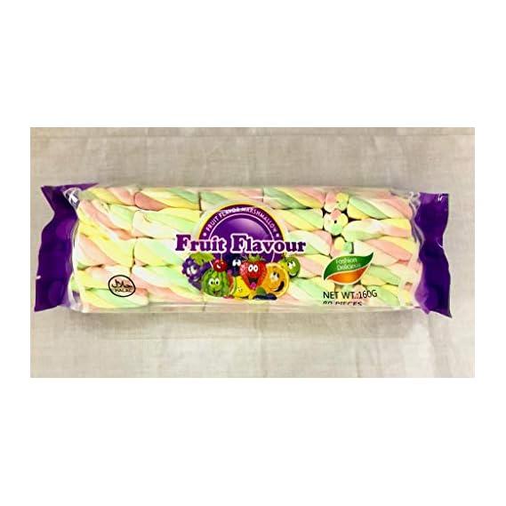 FRUIT FLAVOUR Marshmallow Twist 160g (80 Pieces)