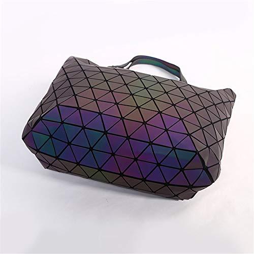Tote Diamond In Tracolla Pieghevoli Luminosa Borsa Geometriche Laser Pelle Pu Pianura A Borse dZq1XxYBZw