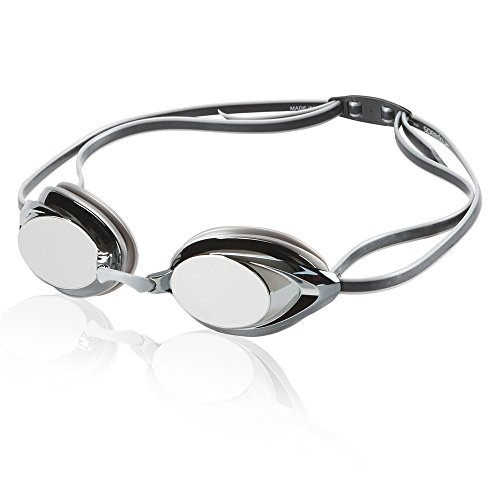 Speedo Vanquisher 2.0 Mirrored Swim Goggle, Silver/Grey, One Size