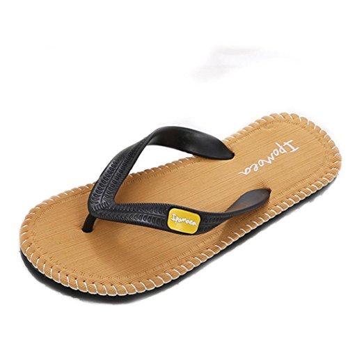 Chanclas de Hombre-SHOBDW-Coser de Sandalias para Hombre de Verano de playa Havaianas Amarillo