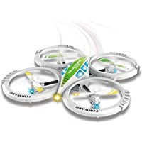 Mini RC Quadcopter 4CH 2.4GHz UFO Aircraft Drone Radio Control Toy W/ 6-Axis Gyro (Green)