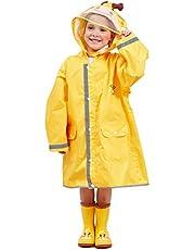LIVACASA Regenponcho, uniseks, waterdicht, licht, regenjas, schooltas, ademend, regenjas, tas, outdoor, regenoverall, reflectoren met dierenpatroon, capuchon, voor jongens en meisjes