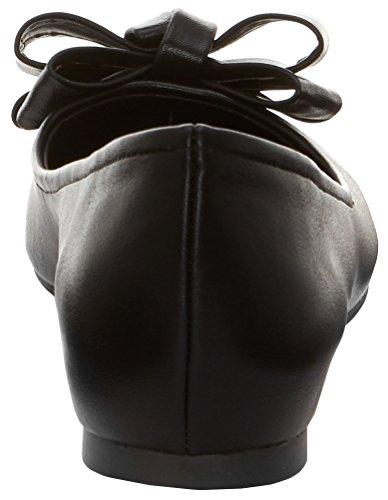 Leather Black Flat Women's Simpson Jessica Mugara Ballet AwqFHxUY