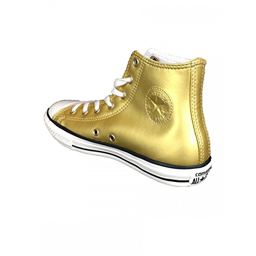 Scarpe Converse Chuck Taylor HI METAL ALL STAR in pelle oro 655126C