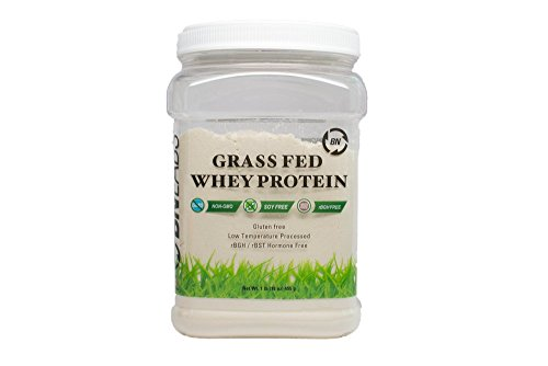 Grass Fed Whey Protein - 100% Natural & Raw - Pure One Ingredient Undenatured 24g Protein Per Serving - Non-GMO - rBGH free - Gluten Free - Soy Free - Highest Quality from Idaho USA - (Arnold Grass)