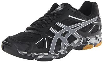 ASICS Men's Gel-Flashpoint Volley Ball Shoe,Black/Charcoal/Silver,9 M US