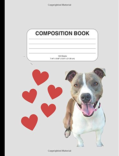 Download Composition Book: Pitbull Dog Design, Graph Paper, 200 Pages to Use for Writing, School, for Math Homework, or as a Journal ebook