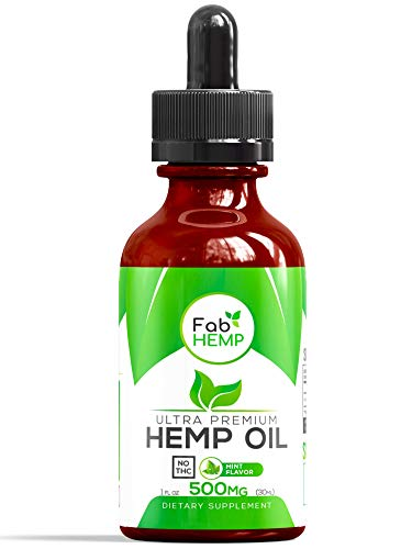Hemp Oil Extract for Pain, Anxiety & Stress Relief - 500mg Full Spectrum Organic Hemp Drops - Pure Hemp Extract with MCT - Natural Hemp Oils for Better Sleep, Mood & Stress - Zero THC CBD Cannabidiol