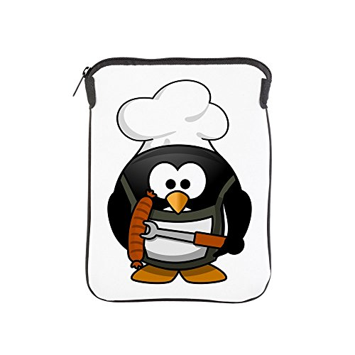 iPad 1 2 3 4 Air II Sleeve Case (2-Sided) Little Round Penguin - BBQ Grill King