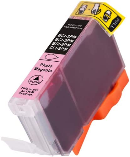 280 Page Yield SuppliesMAX Compatible Replacement for Innovera IVRBCI36PM Photo Magenta Inkjet Equivalent to Canon BCI-6PM